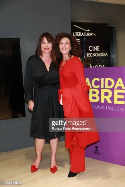 Minerva Piquero and Beatriz Perez Aranda attend the presentation of 'Nacida libre' on October 23, 2019 in Madrid, Spain.