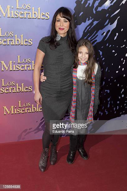 Minerva Piquero and daughter attend Los Miserables premiere photocall at Lope de Vega theatre on November 18 2010 in Madrid Spain