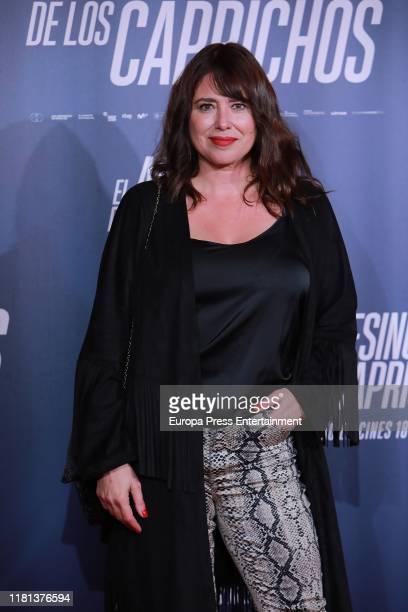 Minerva Piquero attends 'El Asesino de los Caprichos' premiere on October 15 2019 in Madrid Spain