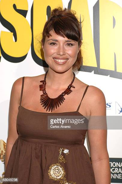Minerva Piquero attends the Spanish premiere for Madagascar at Palacio de la Musica cinema on June 9 2005 in Madrid Spain
