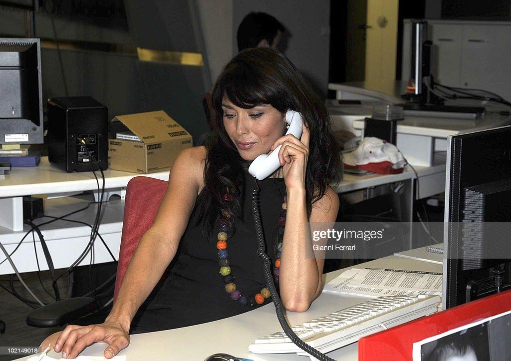 Minerva Piquero, TV presenter of the channel 'Onda 6', 16th September 2009, City of the Image, Madrid, Spain.