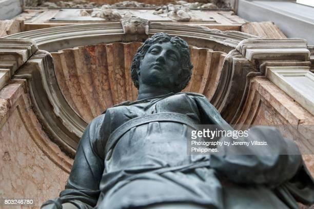 Minerva statue, Campanile of St. Mark's, Venice, Italy