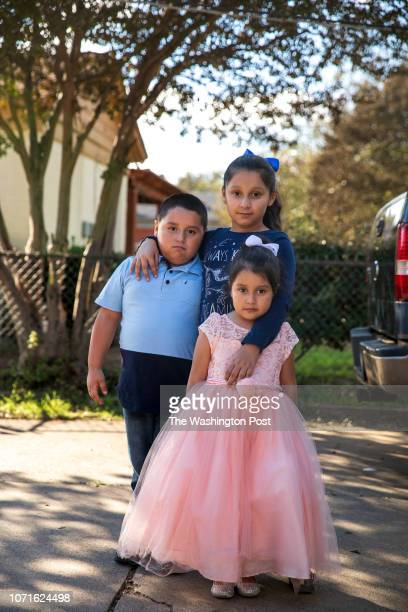 Minerva's surviving children Haidy 7 Axel 6 and Alyson 4 Minerva Cisneros's surviving children live with their grandparents in Fort Worth CREDIT...