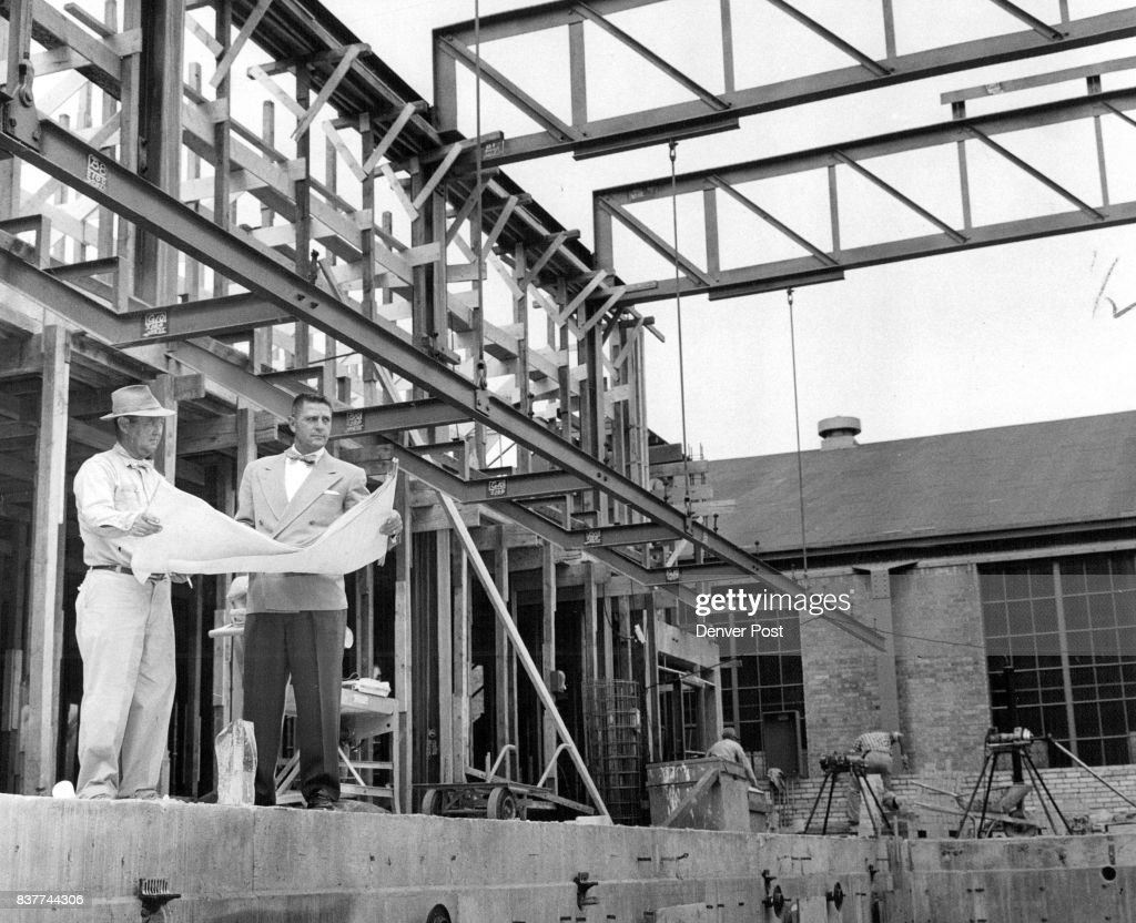 Denver post archives pictures getty images mines gym grows john pike left mead and mount co construction superintendent malvernweather Gallery