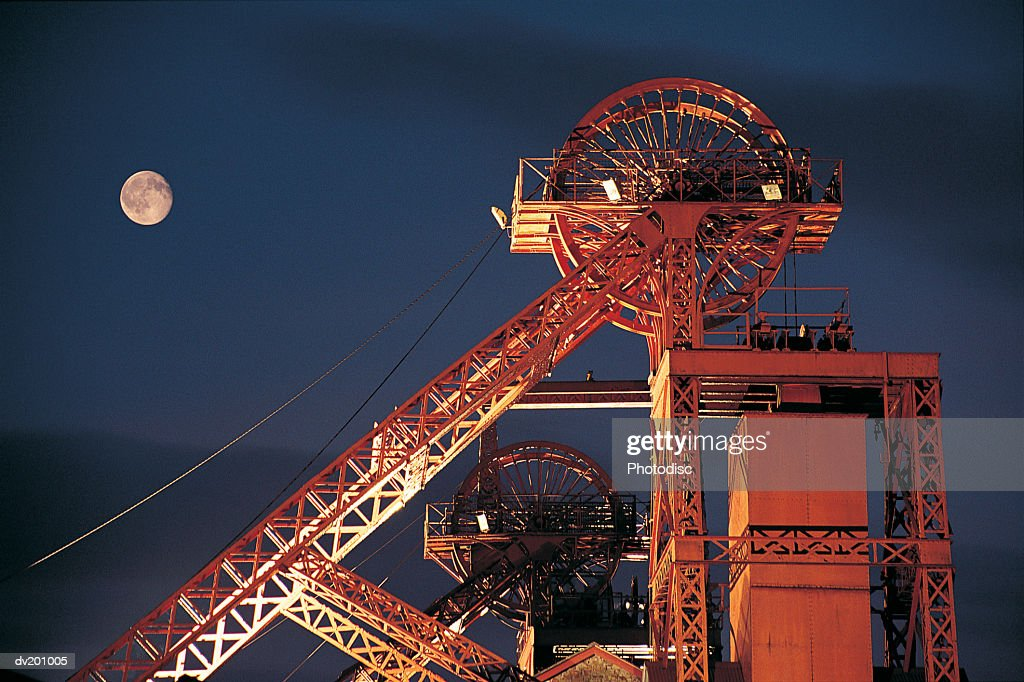 Mineshaft at night : Stock Photo