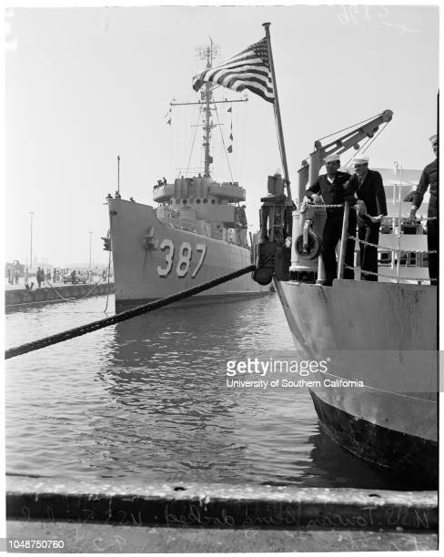 Minesweepers arrival 2 September 1952 USS 'Symbol'USS 'Toucan' arrival in San Pedro Harbor after 9 monthsservice in Korean waters Engineman 3rd Class...