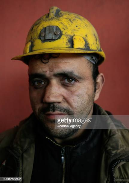 A mineworker Cengiz Furuncu poses for a photo during an interview at a lignite coal mine quarry in Soma district of Manisa which is the most...