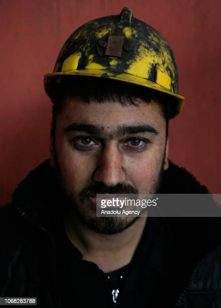 A mineworker Durmus Yilmaz poses for a photo during an interview at a lignite coal mine quarry in Soma district of Manisa which is the most...