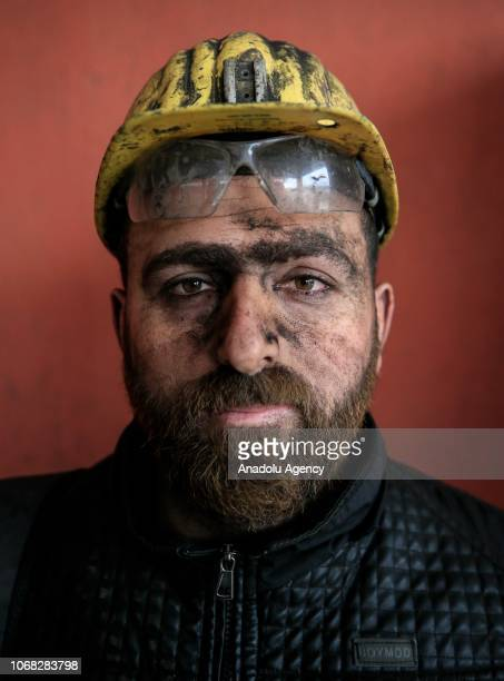 A mineworker Muhammet Demirci poses for a photo during an interview at a lignite coal mine quarry in Soma district of Manisa which is the most...