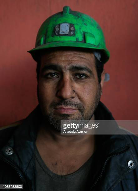 A mineworker Salih Gokgoz poses for a photo during an interview at a lignite coal mine quarry in Soma district of Manisa which is the most...