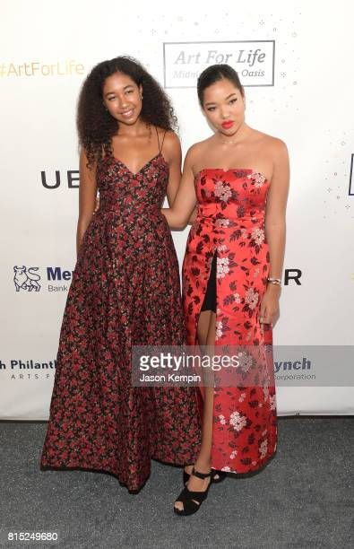 Ming Lee Simmons and Aoki Lee Simmons attend 'Midnight At The Oasis' Annual Art For Life Benefit hosted by Russell Simmons' Rush Philanthropic Arts...