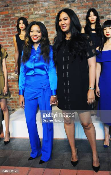 Ming Lee Simmons and designer Kimora Lee Simmons attend the Kimora Lee Simmons Presentation during New York Fashion Week at The Bowery Hotel on...