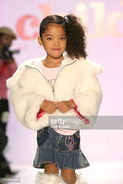 Ming Lee simmons during Olympus Fashion Week Fall 2005 Child Magazine 7th on Sixth Runway at The Atelier Bryant Park in New York City New York United...