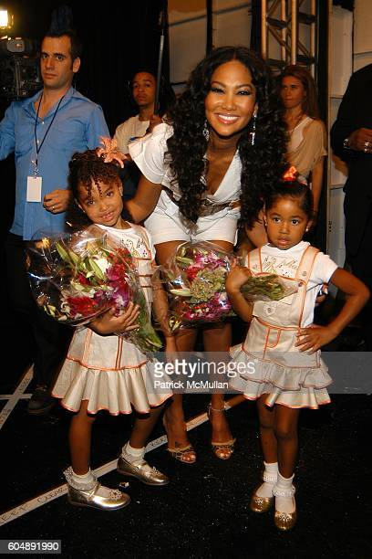 Ming Lee Simmons Kimora Lee Simmons and Aoki Lee Simmons attend BABY PHAT Spring 2007 Fashion Show at The Atelier at Bryant Park on September 8 2006...