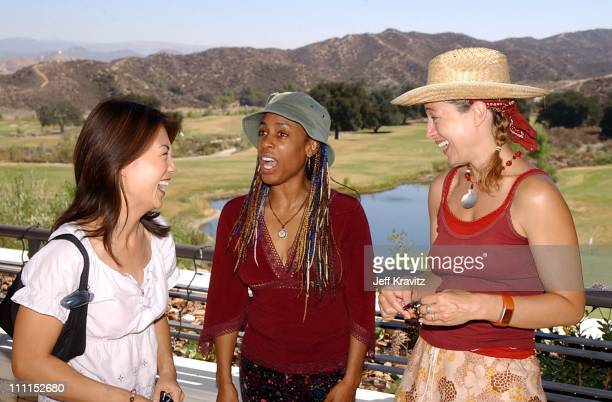 Ming Na Alex Kingston Lynn Henderson during The 2nd Annual Cure Autism Now Celebrity Golf Classic in Santa Clarita California United States