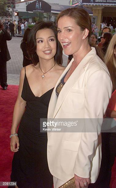 Ming Na and Peri Gilpin at the premiere of 'Final Fantasy: The Spirits Within' at the Bruin Theater in Los Angeles, Ca. 7/2/01. Photo by Kevin...