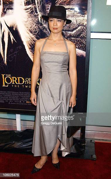Ming Na during The Lord Of The Rings The Two Towers Los Angeles Premiere Arrivals at Cinerama Dome Theatre in Hollywood California United States