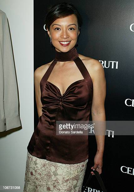 Ming Na Zee during Cerruti and David Cardona CoHost Private Party to Celebrate the Opening of Cerruti Beverly Hills Benefiting OPCC at Cerruti Store...