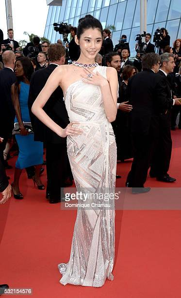 Ming Xi attend The Unknown Girl Premiere during the 69th annual Cannes Film Festival at the Palais des Festivals on May 18 2016 in Cannes France