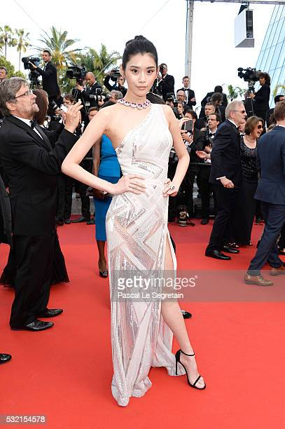 Ming Xi attend 'The Unknown Girl ' Premiere during the 69th annual Cannes Film Festival at the Palais des Festivals on May 18 2016 in Cannes France