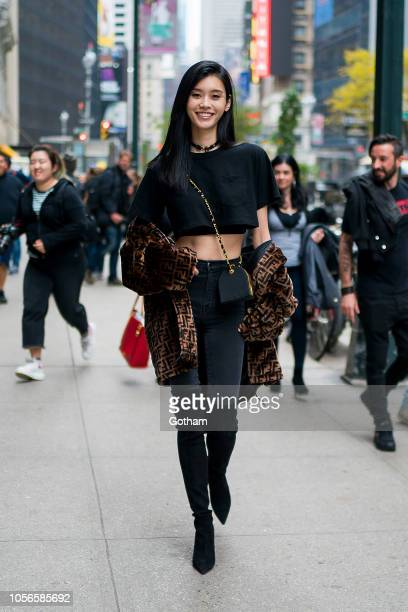 Ming Xi attends fittings for the 2018 Victoria's Secret Fashion Show in Midtown on November 2 2018 in New York City