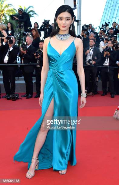 Ming Xi attends the 120 Beats Per Minute screening during the 70th annual Cannes Film Festival at Palais des Festivals on May 20 2017 in Cannes France