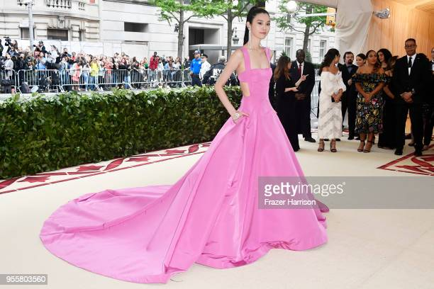 Ming Xi attends the Heavenly Bodies: Fashion & The Catholic Imagination Costume Institute Gala at The Metropolitan Museum of Art on May 7, 2018 in...
