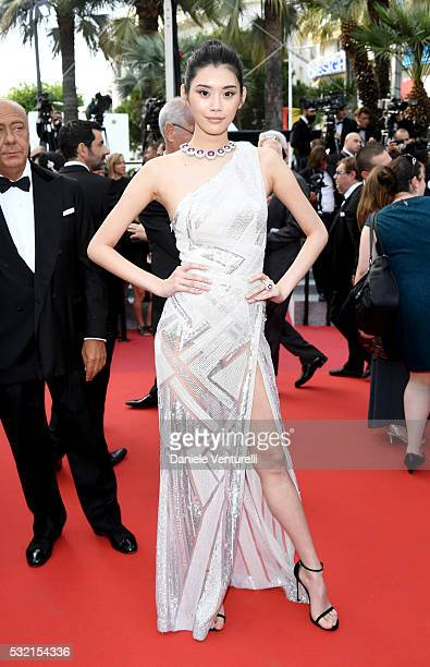 Ming Xi attends The Unknown Girl Premiere during the 69th annual Cannes Film Festival at the Palais des Festivals on May 18 2016 in Cannes France