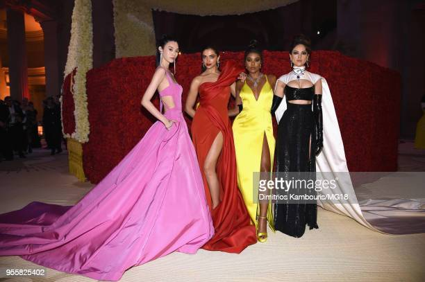 Ming Xi Deepika Padukon Gabrielle Union and Eiza Gonzalez attend the Heavenly Bodies Fashion The Catholic Imagination Costume Institute Gala at The...