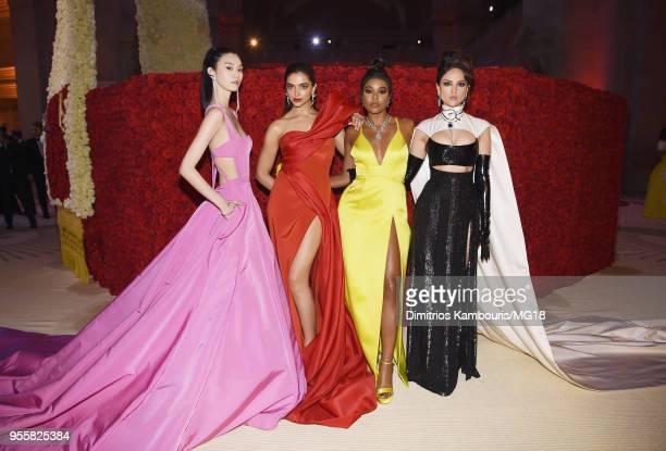 Ming Xi Deepika Padukone Gabrielle Union and Eiza Gonzalez attend the Heavenly Bodies Fashion The Catholic Imagination Costume Institute Gala at The...