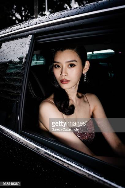 Ming Xi is seen on her way to attend the screening of BlacKkKlansman during the 71st annual Cannes Film Festival at on May 14 2018 in Cannes France