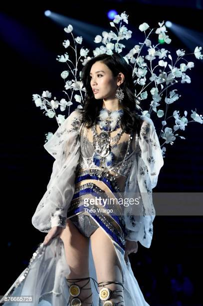 Ming Xi walks the runway during the 2017 Victoria's Secret Fashion Show In Shanghai at Mercedes-Benz Arena on November 20, 2017 in Shanghai, China.