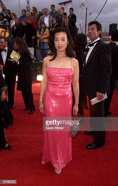Ming-Na arrives at the 7th Annual Screen Actors Guild Awards at the Shrine Auditorium in Los Angeles Sunday, March 11, 2001. Photo by Kevin...
