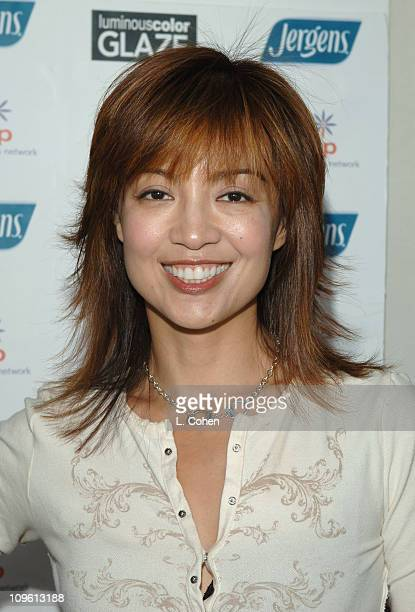 MingNa during John Frieda Luminous Color Glaze PreEmmy Suite at Roosevelt Hotel in Hollywood California United States