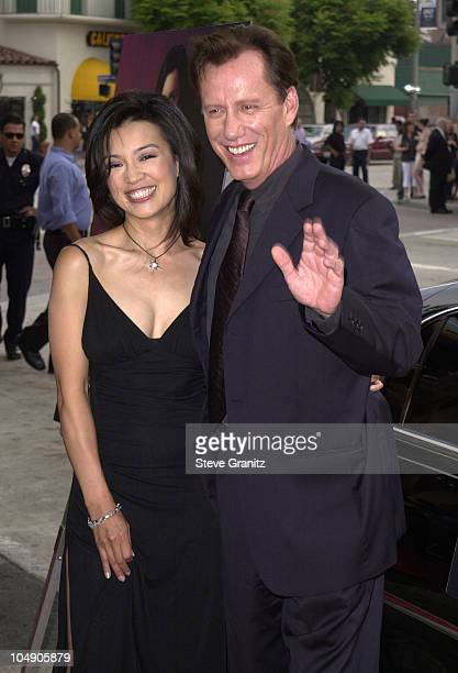 Ming-Na & James Woods during Final Fantasy: The Spirits Within Premiere at Mann Bruin Theatre in Westwood, California, United States.