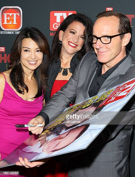 MingNa Wen and Clark Gregg attend TV Guide Magazine's Annual Hot List Party at The Emerson Theatre on November 4 2013 in Hollywood California