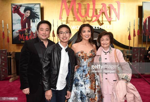 Ming-Na Wen and guests attend the World Premiere of Disney's 'MULAN' at the Dolby Theatre on March 09, 2020 in Hollywood, California.