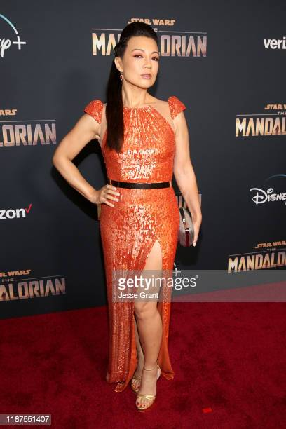 MingNa Wen arrives at the premiere of Lucasfilm's firstever liveaction series The Mandalorian at the El Capitan Theatre in Hollywood Calif on...