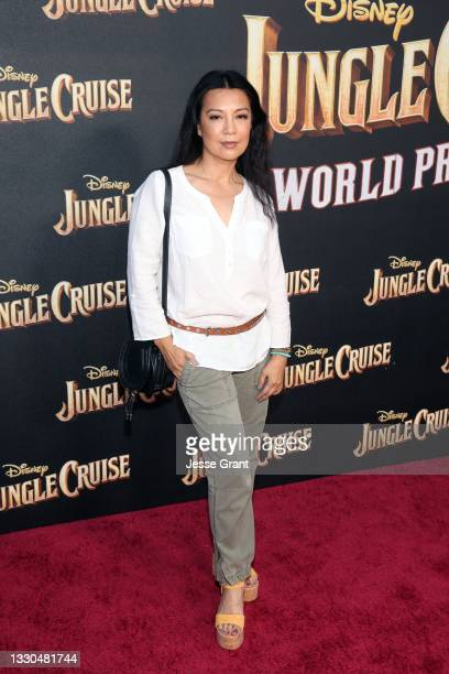 Ming-Na Wen arrives at the world premiere for JUNGLE CRUISE, held at Disneyland in Anaheim, California on July 24, 2021.