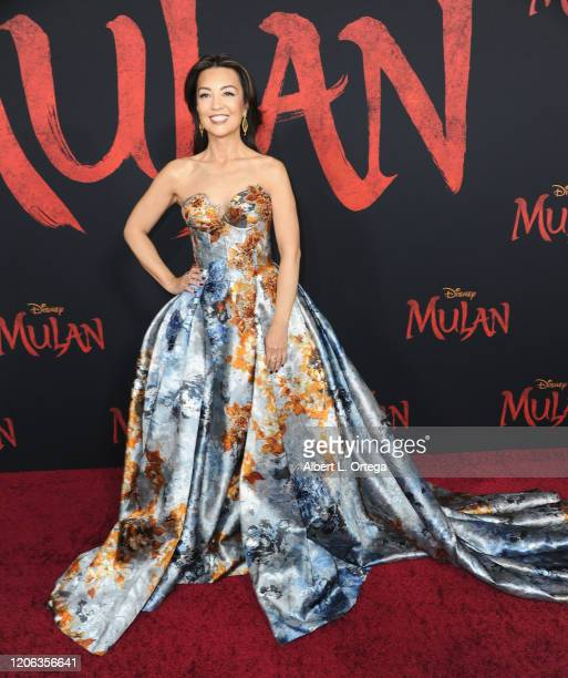 "Ming-Na Wen arrives for the Premiere Of Disney's ""Mulan"" held at Dolby Theatre on March 9, 2020 in Hollywood, California."