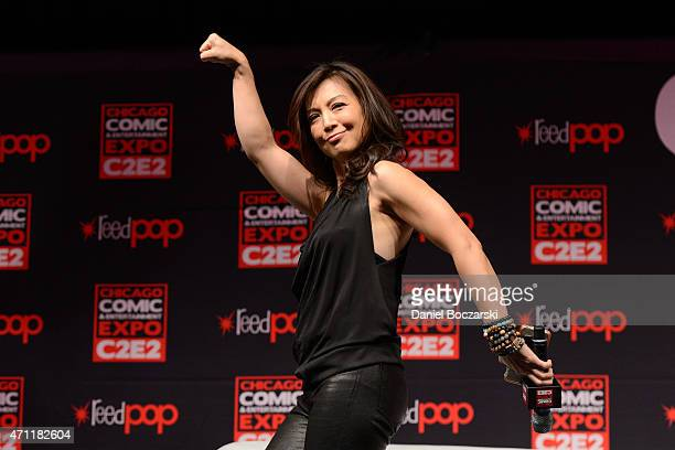 MingNa Wen attends C2E2 Chicago Comic and Entertainment Expo at McCormick Place on April 25 2015 in Chicago Illinois