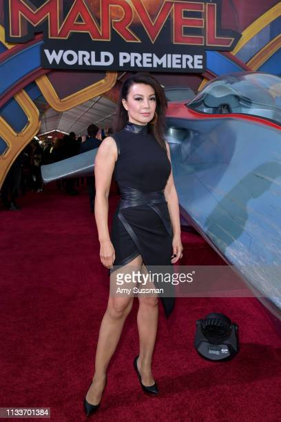 """Ming-Na Wen attends Marvel Studios """"Captain Marvel"""" Premiere on March 04, 2019 in Hollywood, California."""