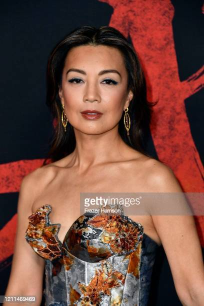 "Ming-Na Wen attends the premiere of Disney's ""Mulan"" at Dolby Theatre on March 09, 2020 in Hollywood, California."