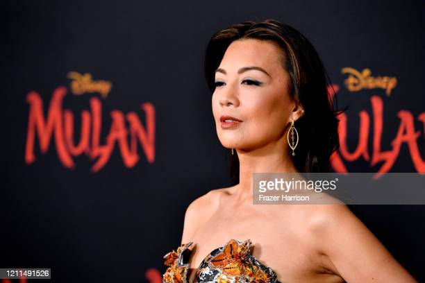 "Ming-Na Wen attends the Premiere Of Disney's ""Mulan"" on March 09, 2020 in Los Angeles, California."
