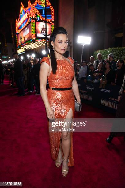 MingNa Wen attends the premiere of Disney's 'The Mandalorian' at El Capitan Theatre on November 13 2019 in Los Angeles California