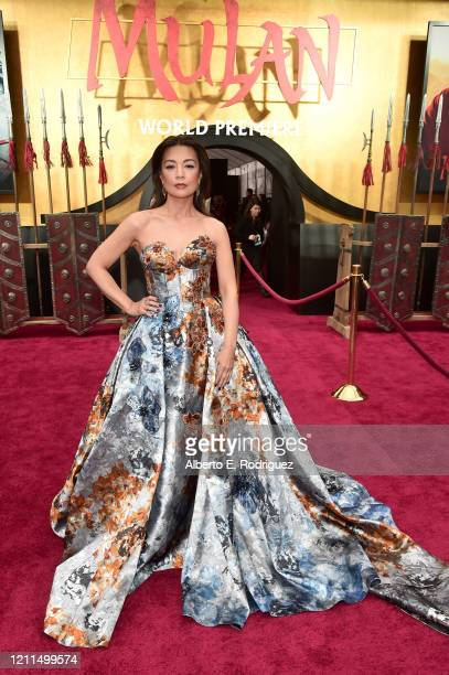 Ming-Na Wen attends the World Premiere of Disney's 'MULAN' at the Dolby Theatre on March 09, 2020 in Hollywood, California.