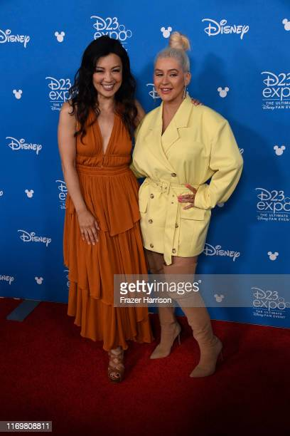 Ming-Na Wen, Christina Aguilera attend D23 Disney Legends event at Anaheim Convention Center on August 23, 2019 in Anaheim, California.