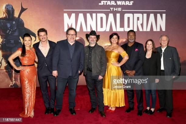 Ming-Na Wen, Pedro Pascal, Showrunner/executive producer Jon Favreau, Executive producer/director Dave Filoni, Gina Carano, Carl Weathers, Executive...