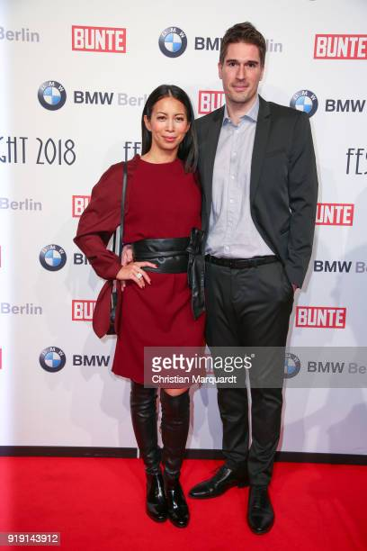 Minh Khai Phan Thi and Ansgar Niggemann attend the BUNTE BMW Festival Night on the occasion of the 68th Berlinale International Film Festival Berlin...