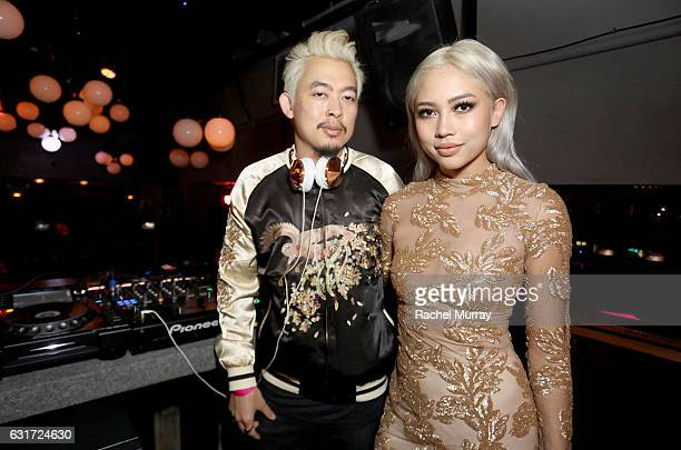 Minh Pham and Amy Pham @iamamypham DJ the NYX Professional Makeup Presents Neon Nights IMATS LA VIP Party at The Reserve on January 14 2017 in Los...